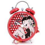 Betty Boop Red Polka Dots  Alarm Bell Clock 5""