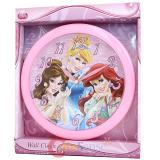 Disney Princess  Wall Clock with Cinderella Ariel Belle -9.5in
