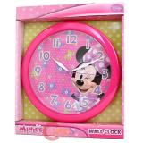 Disney Minnie Mouse Wall Clock  -9.5in Pink Bowtique