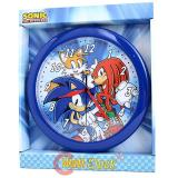 Sonic The Hedgehog Knuckles and Tails Wall Clock  -9.5in