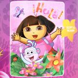 Dora The Explorer Dora and Boots  Fleece Throw Blanket (46in x 60in)