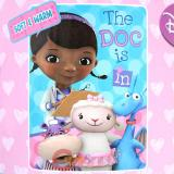 Disney Jr. Doc Mcstuffins Fleece Throw Blanket (46in x 60in) - The Doc is in