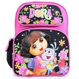 Dora The Explorer Dora & Boots School Backpack 16in Large Bag-Flower Garden