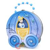 Disney Princess Cinderella Wagon Tin Jewelry Hand Bag with Wheel