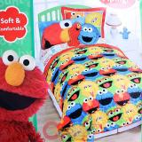 Sesame Street Elmo Friends 4pc Twin Bedding Comforter Set