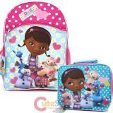 Disney Jr. Doc Mcstuffins  Large School Backpack Lunch Bag Set
