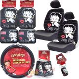 Betty Boop Timeless Car Seat Covers Accessories Set - Low Back 12 pc