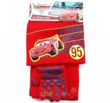 Cars Mcqueen  Kids Beanie  Gloves and  Scarf Set :  Extreme Racing Red