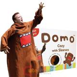 Domo Kun  Cozy Fleece  Blanket with Sleeves : Adult Size