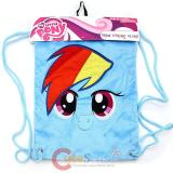 My Little Pony Rainbow Dash  Plush Draw String Backpack Sling Shoulder Bag