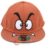 Nintendo Super Mario Goomba Flex Fit Hat , Flat Bill Cap