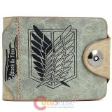 Attack on Titan Scouting Legion Leather Wallet  Shingeki no Kyojin Anime Wallet -Green