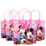 Disney Mickey Minnie Mouse  Party Gift Bag Set of 6 - Pink  8.5in