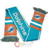 NFL Miami Dolphins Kinnited Scarf - Stripe Logo