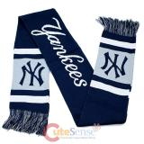 MLB New York Yankees Kinnited Scarf - Stripe Logo