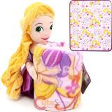 Disney Princess Tangled Rapunzel   Fleece Throw Blanket with Plush Doll Pillow Set