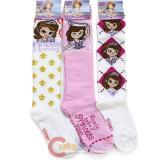 Sofia The First  Knee High Kids Socks Set 3 Pair