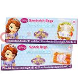 Disney Sofia The First  45pc Sandwich Snack Bags Set Food Zip Bag