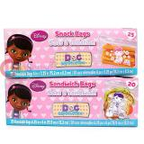 Disney Jr. Doc Mcstuffins  45pc Sandwich Snack Bags Set Food Zip Bag