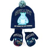 Monsters University Sulley  Mitten Gloves Lapland Beanie Set with Furry Ball