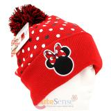 Disney Minnie Mouse Logo Dots Beanie with Furry Ball