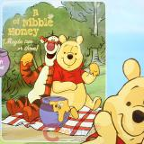 Winnie the Pooh with Friends Blanket  Twin Raschel Throw -Nibble Honey