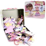 Disney Jr. Doc Mcstuffins  Tin Box with Puzzle Set