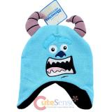 Monsters University Sulley Earflap Beanie Hat with 3D Horns