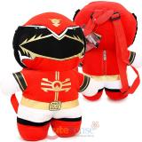 Power Ranger Kawaii Plush Doll Backpack  Costume Bag - Red Ranger