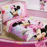 Disney Minnie Mouse Toddler Bedding Set - 4pc Microfiber  Bed Set