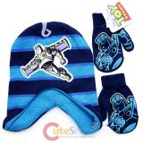 Disney Toy Story Buzz Lightyear Laplander Beanie Mitten Gloves Set -Blue