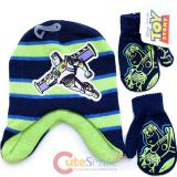 Disney Toy Story Buzz Lightyear Laplander Beanie Mitten Gloves Set -Green