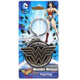 DC Comics Wonder Woman Logo Metal Key Chain Pewter 3D