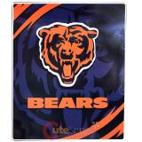 Chicago Bears Mink Plush Blanket Queen Size - NFL Big Logo