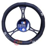 New York Yankees  Car Auto Steering Wheel Cover - NY Logo Leather
