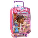 Disney Jr. Doc Mcstuffins Rolling Luggage Soft Suite Case Travel Bag