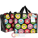 Paul Frank Color Polka Dots Reusable Tote Duffle Bag -2pc Set 10""