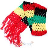 Rasta Crocheted Scarf knitted Muffler
