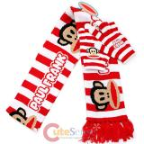 Paul Frank Red Striped Long Scarf with Gloves Set by Loungefly