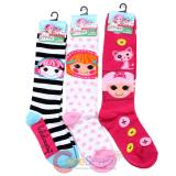 Lalaloopsy Knee High Kids Socks Set 3 Pair - Crumb and  Bea
