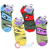 TMNT Teenage Mutant Ninja Turtles 4 Pair Anklets  Socks Set : Medium