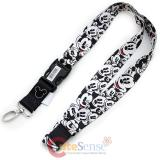 Disney Mickey Mouse Lanyard Key Chain ID Holder - Face All Over Expressions