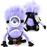 Despicable Me Purple Minion Plush Doll Backpack 1 Eye Devil Costume Bag