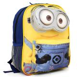 "Despicable Me 2  Big Face Minion Small School Backpack 12"" Bag -3D eye Pocket"