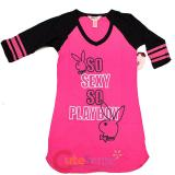 Playboys Long Shirts  Pajama Top - So Sexy So Playboy : Medium