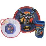 DC Comic Batman  3Pc Kids Dining / Dinnerware Set