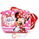 Disney Minnie Mouse School Insulated Lunch Bag - Red Bow Flowers