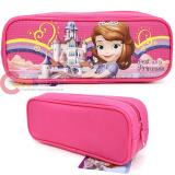 Disney Sofia The First Zippered  Pencil Case Pouch Bag - Sweet Princess Pink