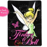 Disney TinkerBell Plush Mink Blanket  Twin Throw - Tink Magic
