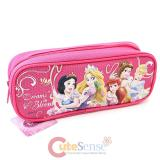 Disney Princess with Tangled  Pencil Case Zippered Bag - Hot Pink